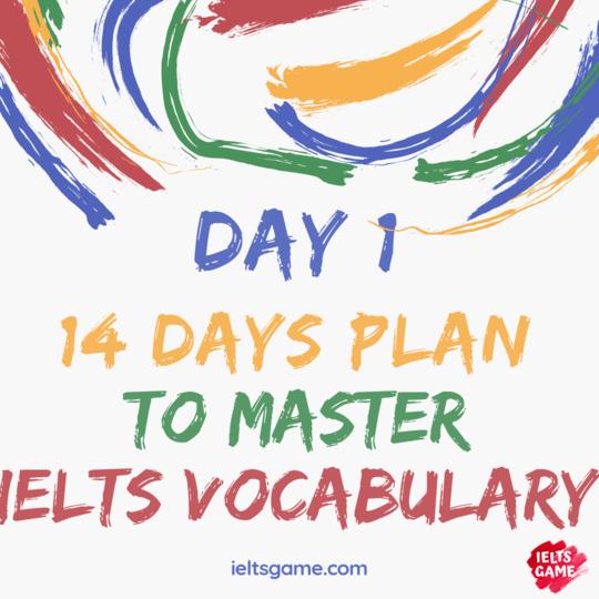 IELTS Vocabulary plan
