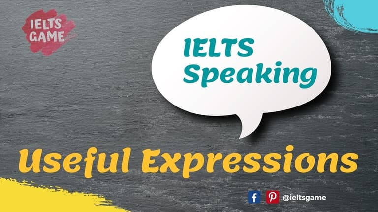 English expressions for IELTS Speaking