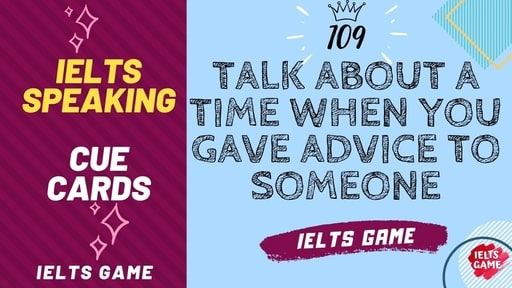 Talk about a time when you gave advice to someone