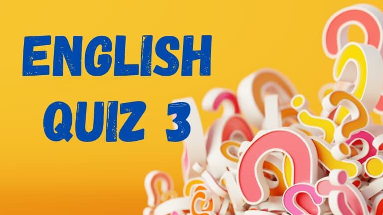 English quiz grammar 3