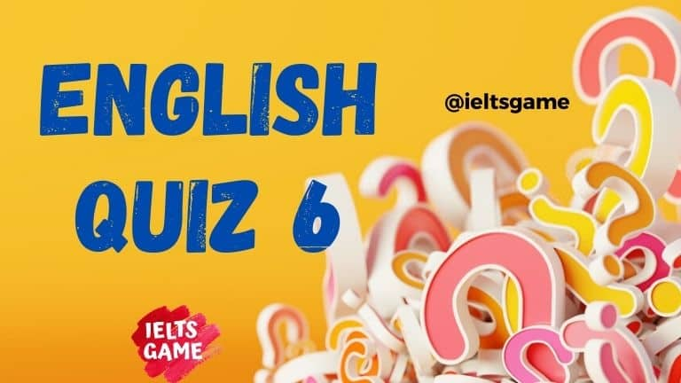 English quiz grammar 6
