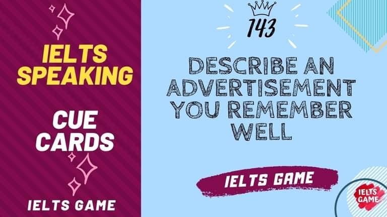 Describe an advertisement you remember well