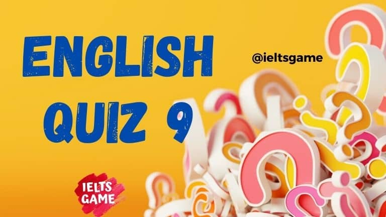 English quiz grammar 9