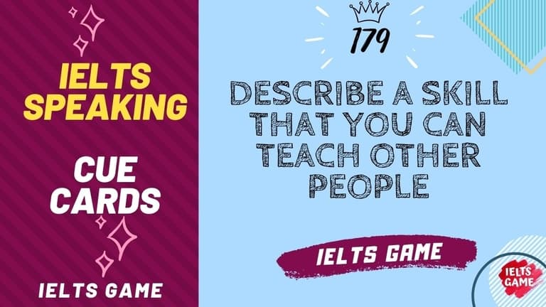 Describe a skill that you can teach other people