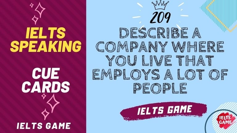 Describe a company where you live that employs a lot of people