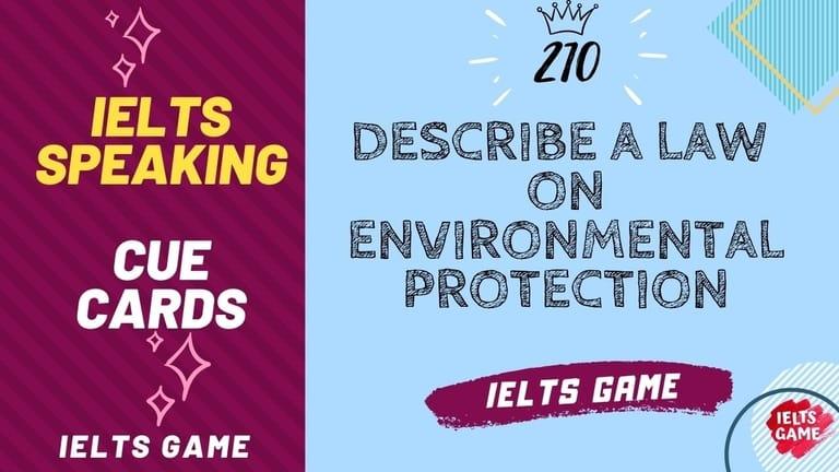 Describe a law on environmental protection