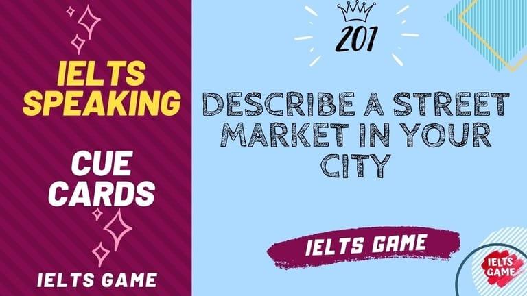 Describe a street market in your city