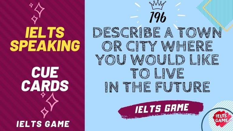 Describe a town or city where you would like to live in the future